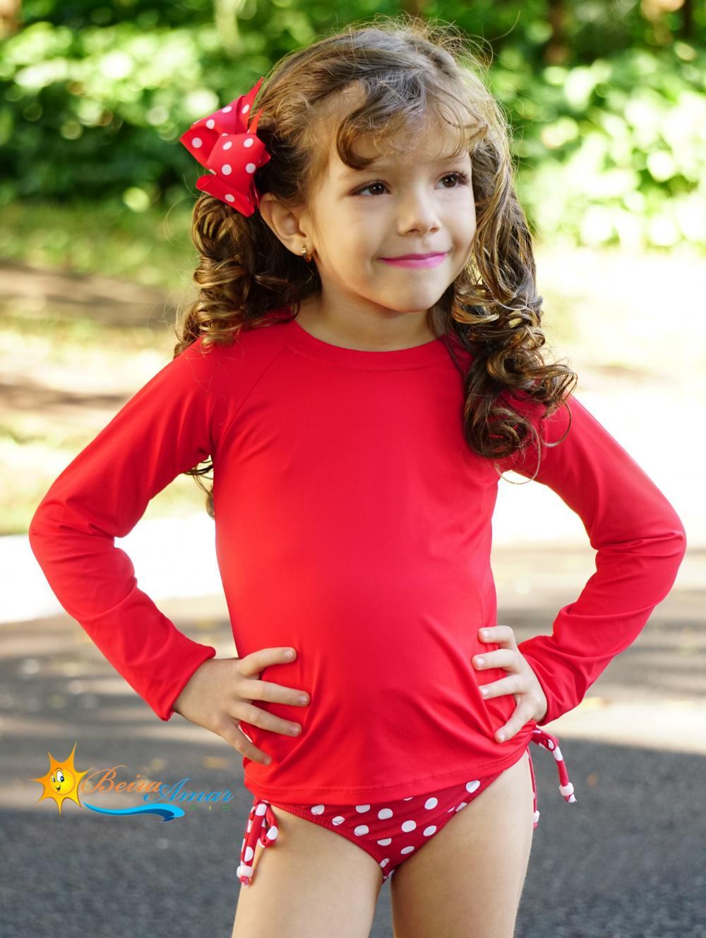 Camiseta infantil manga longa proteção solar UV 50+
