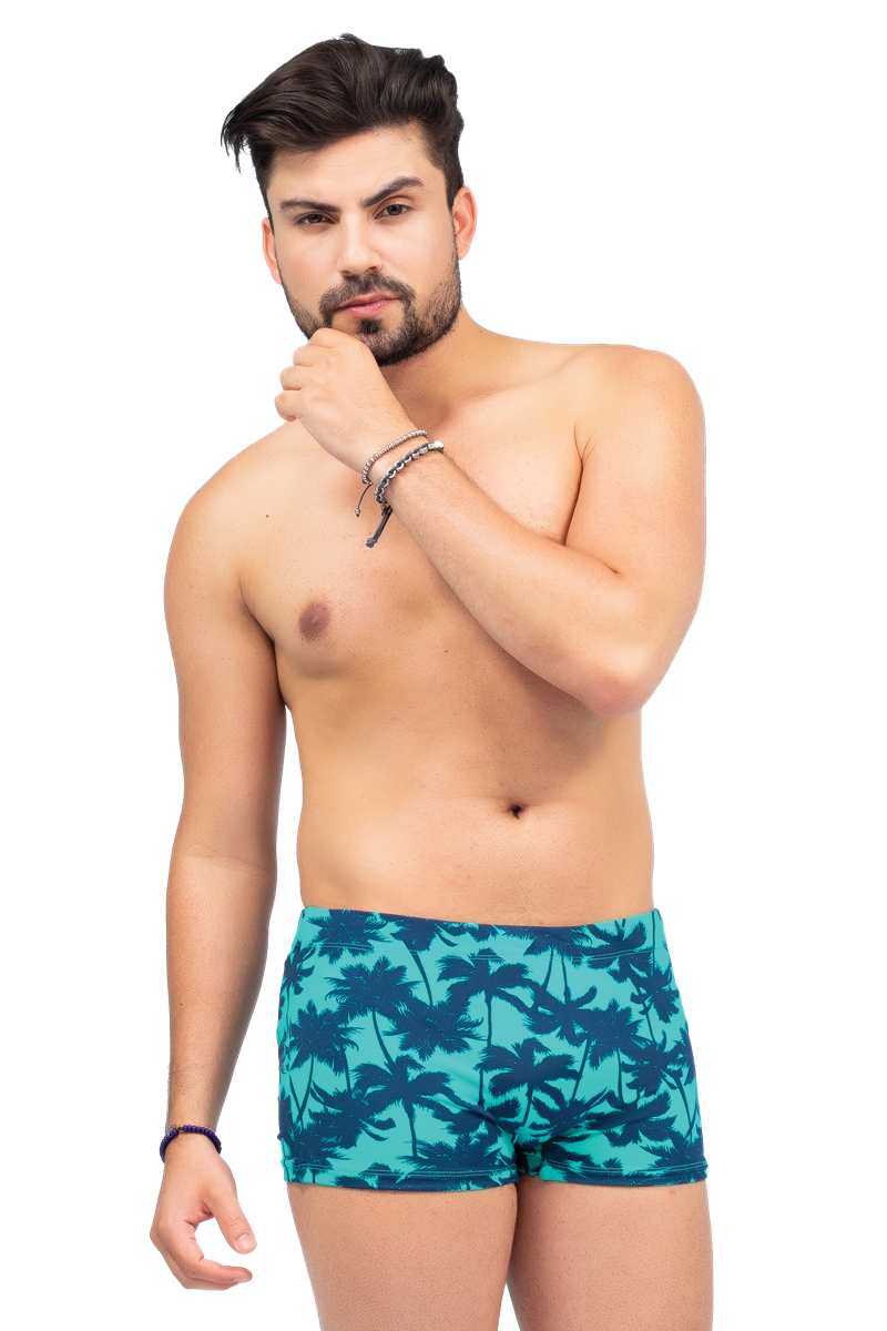 Sunga boxer estampada