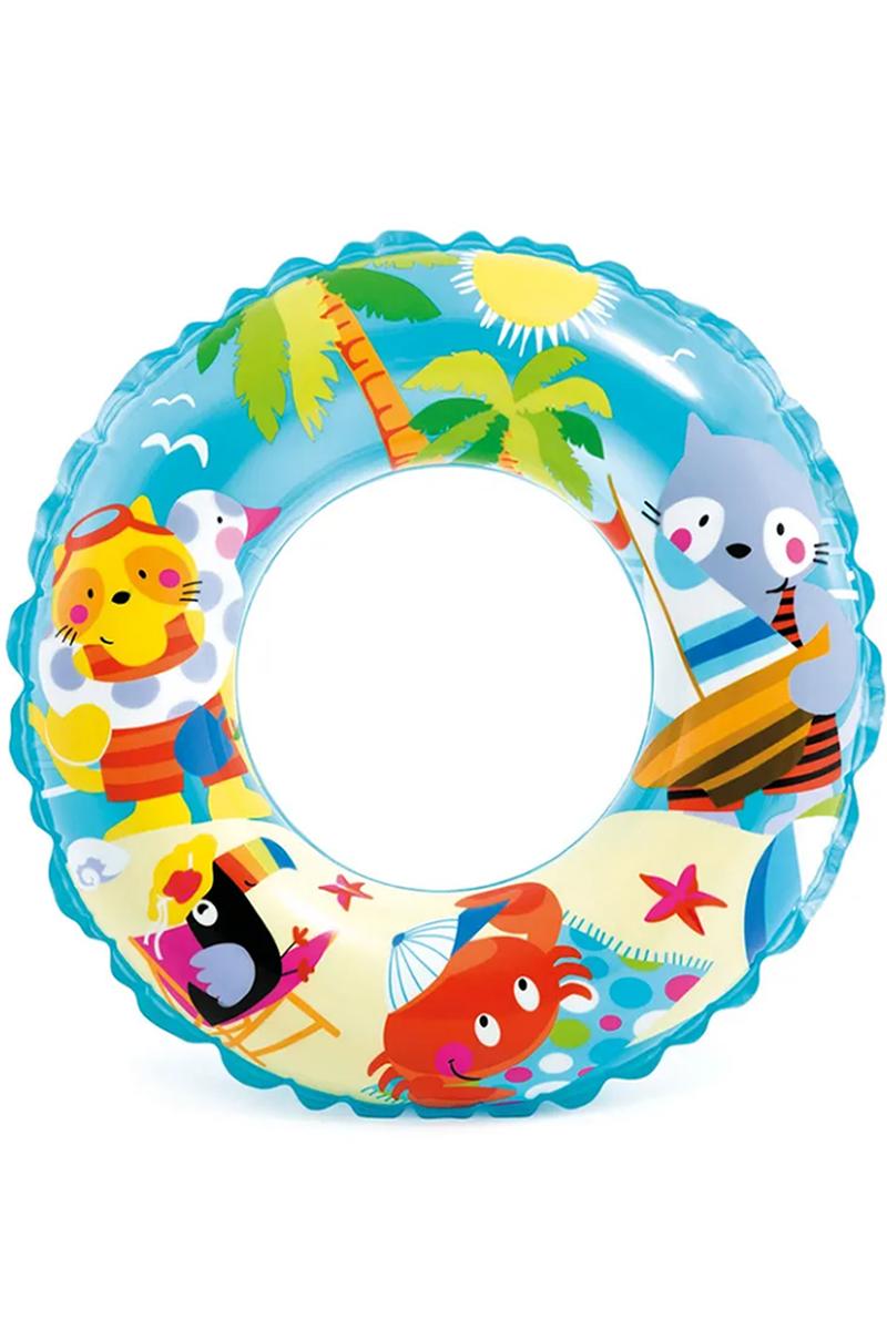 Boia infantil redonda Intex animais praia