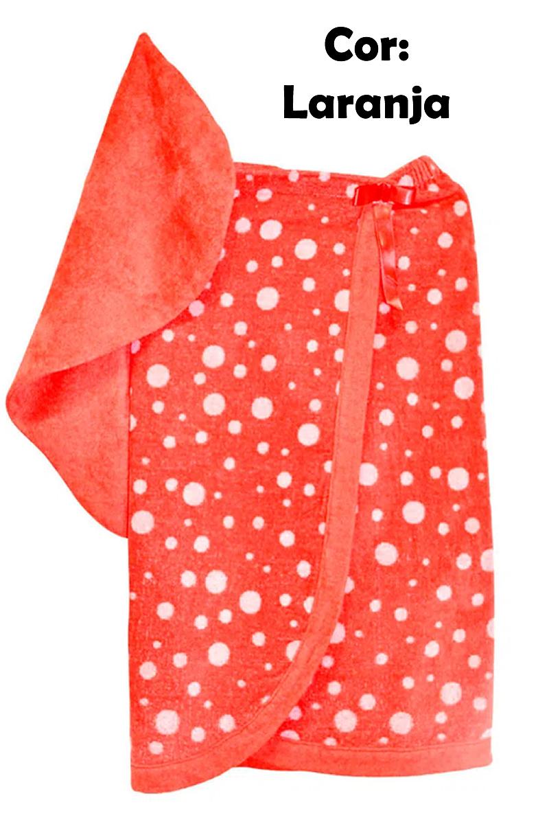 Saída de banho toalha tomara que caia com Touca